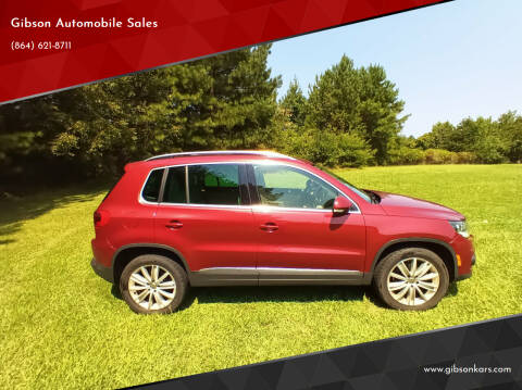2012 Volkswagen Tiguan for sale at Gibson Automobile Sales in Spartanburg SC