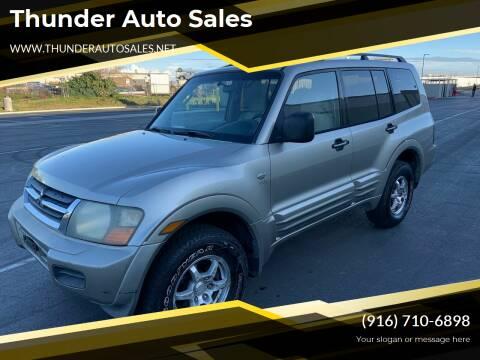 2002 Mitsubishi Montero for sale at Thunder Auto Sales in Sacramento CA