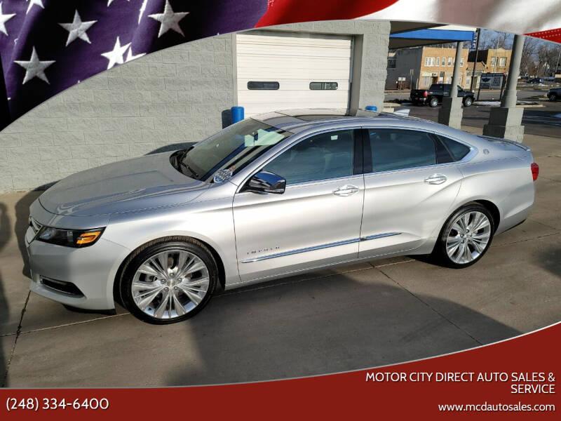 2015 Chevrolet Impala for sale at Motor City Direct Auto Sales & Service in Pontiac MI