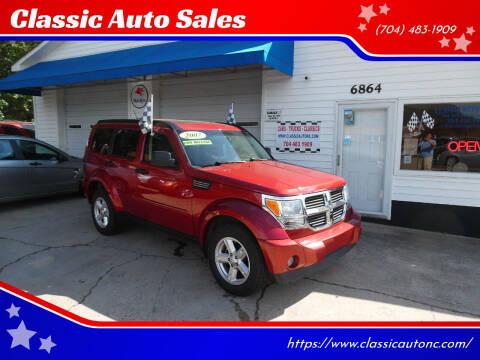 2007 Dodge Nitro for sale at Classic Auto Sales in Maiden NC