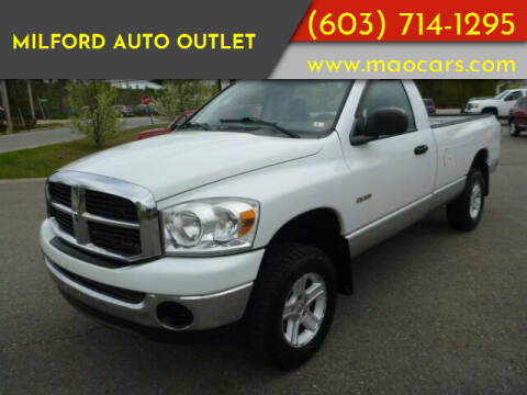 2007 Dodge Ram Pickup 1500 for sale at Milford Auto Outlet in Milford NH