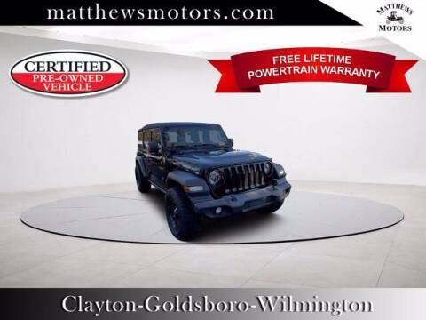 2018 Jeep Wrangler Unlimited for sale at Auto Finance of Raleigh in Raleigh NC
