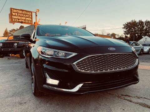 2020 Ford Fusion for sale at 3 Brothers Auto Sales Inc in Detroit MI