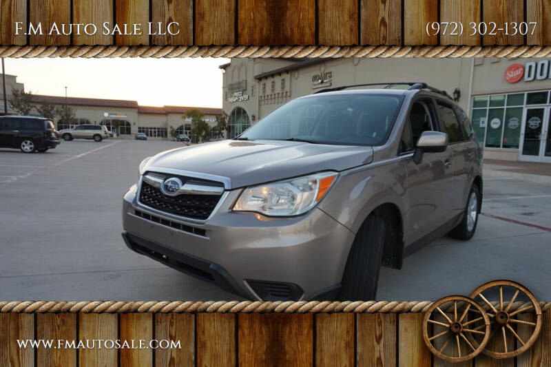 2014 Subaru Forester for sale at F.M Auto Sale LLC in Dallas TX