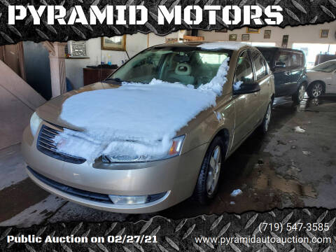 2007 Saturn Ion for sale at PYRAMID MOTORS - Fountain Lot in Fountain CO