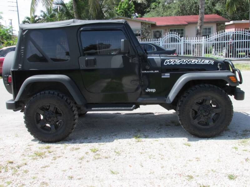 2001 Jeep Wrangler for sale at TROPICAL MOTOR CARS INC in Miami FL
