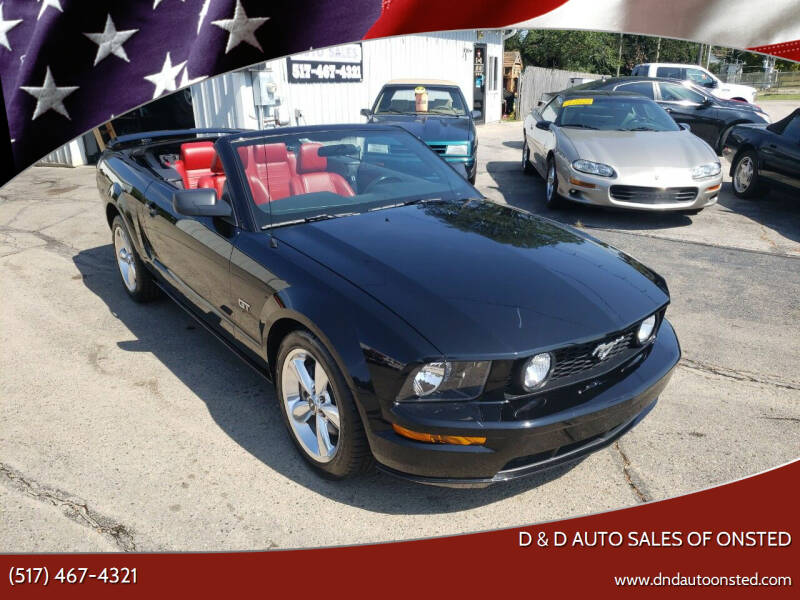 2007 Ford Mustang for sale at D & D Auto Sales Of Onsted in Onsted MI