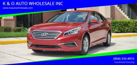 2017 Hyundai Sonata for sale at K & O AUTO WHOLESALE INC in Jacksonville FL