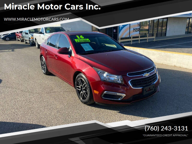 2016 Chevrolet Cruze Limited for sale at Miracle Motor Cars Inc. in Victorville CA