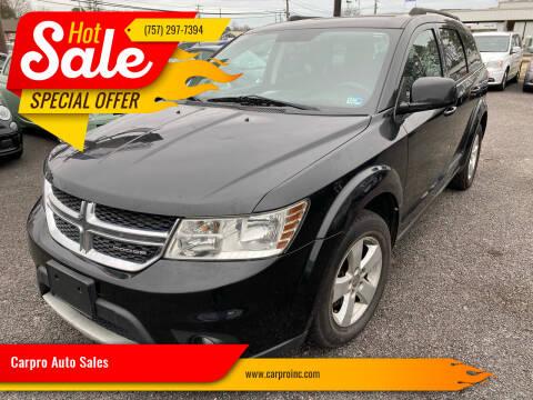 2012 Dodge Journey for sale at Carpro Auto Sales in Chesapeake VA