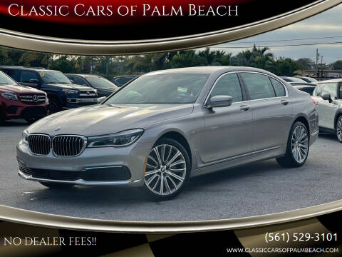 2019 BMW 7 Series for sale at Classic Cars of Palm Beach in Jupiter FL