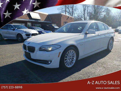 2012 BMW 5 Series for sale at A-Z Auto Sales in Newport News VA