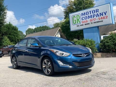 2015 Hyundai Elantra for sale at GR Motor Company in Garner NC