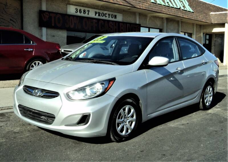 2013 Hyundai Accent for sale at DESERT AUTO TRADER in Las Vegas NV