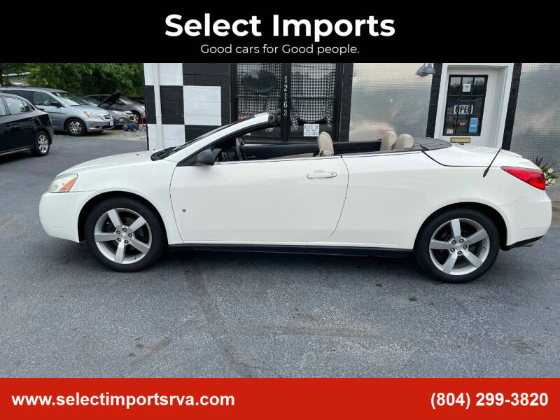 2008 Pontiac G6 for sale at Select Imports in Ashland VA