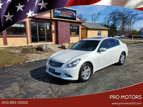 2013 Infiniti G37 Sedan for sale at Pro Motors in Fairfield OH