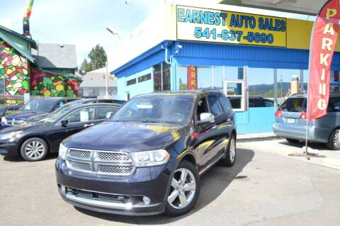 2011 Dodge Durango for sale at Earnest Auto Sales in Roseburg OR