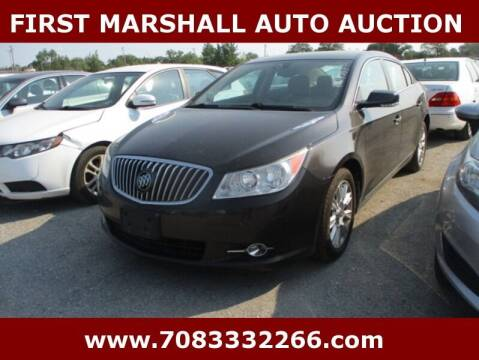 2013 Buick LaCrosse for sale at First Marshall Auto Auction in Harvey IL