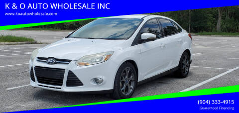 2013 Ford Focus for sale at K & O AUTO WHOLESALE INC in Jacksonville FL