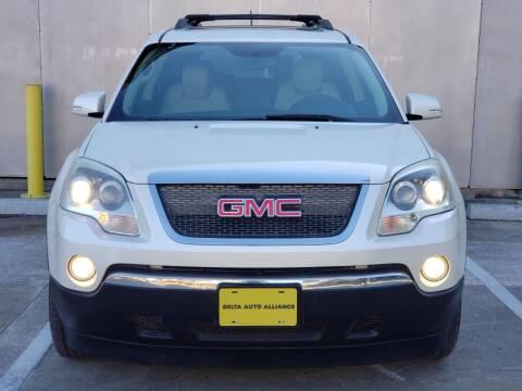 2011 GMC Acadia for sale at Delta Auto Alliance in Houston TX