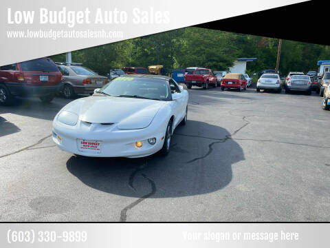 2001 Pontiac Firebird for sale at Low Budget Auto Sales in Rochester NH