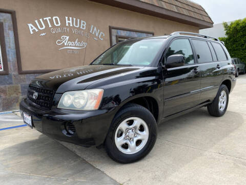 2003 Toyota Highlander for sale at Auto Hub, Inc. in Anaheim CA