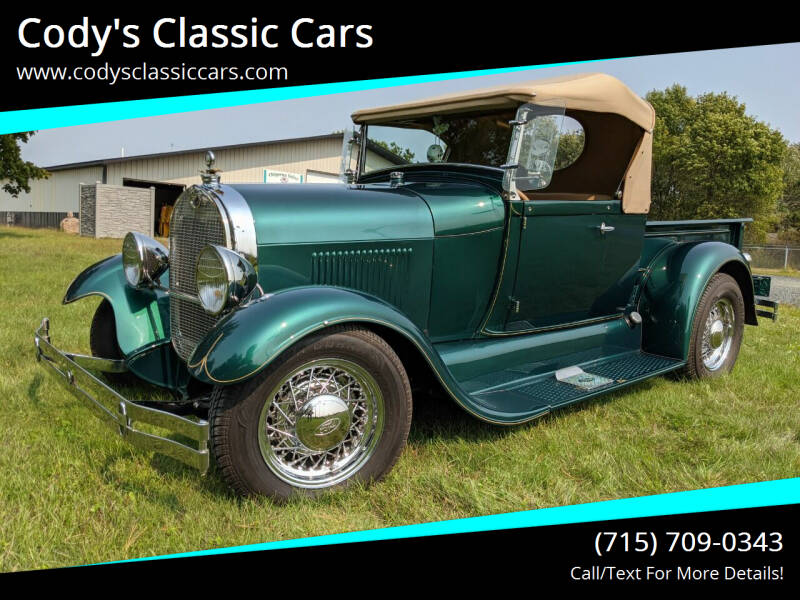 1929 Ford Model A for sale at Cody's Classic Cars in Stanley WI
