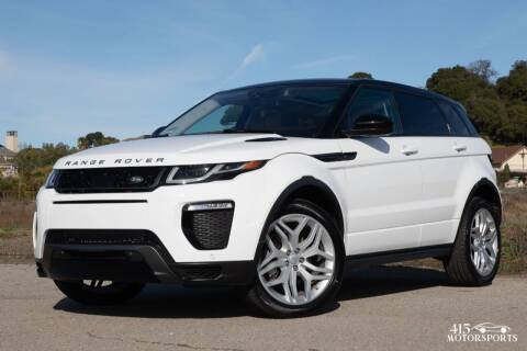 2016 Land Rover Range Rover Evoque for sale at 415 Motorsports in San Rafael CA