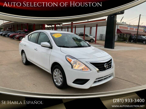2019 Nissan Versa for sale at Auto Selection of Houston in Houston TX