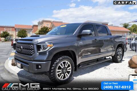 2018 Toyota Tundra for sale at Cali Motor Group in Gilroy CA