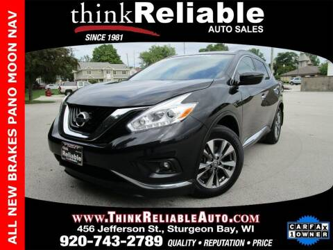 2017 Nissan Murano for sale at RELIABLE AUTOMOBILE SALES, INC in Sturgeon Bay WI