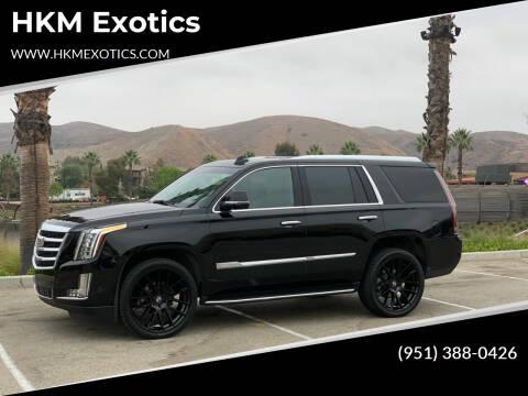 2019 Cadillac Escalade for sale at HKM Exotics in Corona CA