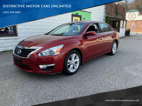 2013 Nissan Altima for sale at DISTINCTIVE MOTOR CARS UNLIMITED in Johnston RI