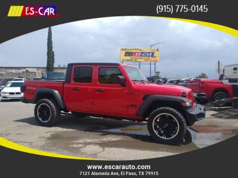 2020 Jeep Gladiator for sale at Escar Auto in El Paso TX