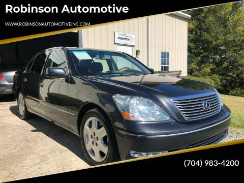 2004 Lexus LS 430 for sale at Robinson Automotive in Albemarle NC