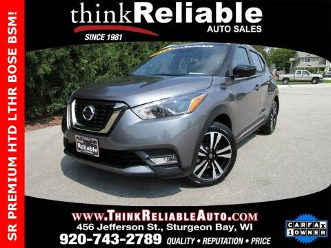 2019 Nissan Kicks for sale at RELIABLE AUTOMOBILE SALES, INC in Sturgeon Bay WI