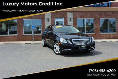 2011 Mercedes-Benz E-Class for sale at Luxury Motors Credit Inc in Bridgeview IL