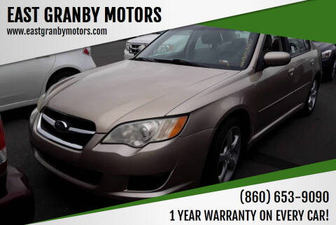 2008 Subaru Legacy for sale at EAST GRANBY MOTORS in East Granby CT
