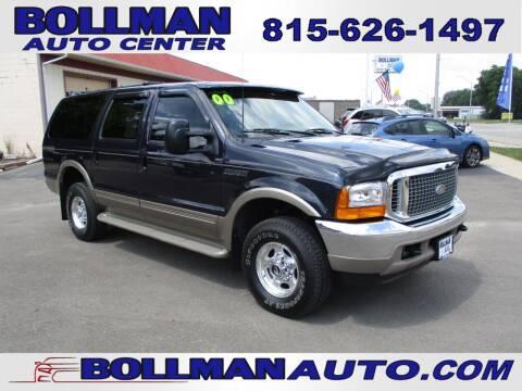 2000 Ford Excursion for sale at Bollman Auto Center in Rock Falls IL