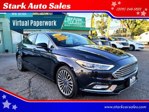 2018 Ford Fusion for sale at Stark Auto Sales in Modesto CA