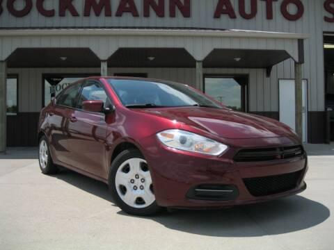 2015 Dodge Dart for sale at Bockmann Auto Sales in St. Paul NE