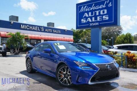 2017 Lexus RC 200t for sale at Michael's Auto Sales Corp in Hollywood FL