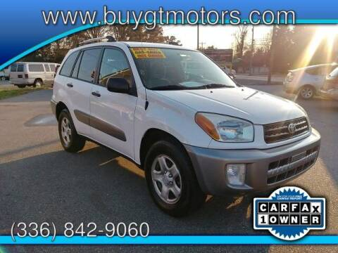 2002 Toyota RAV4 for sale at GT Motors, LLC in Elkin NC