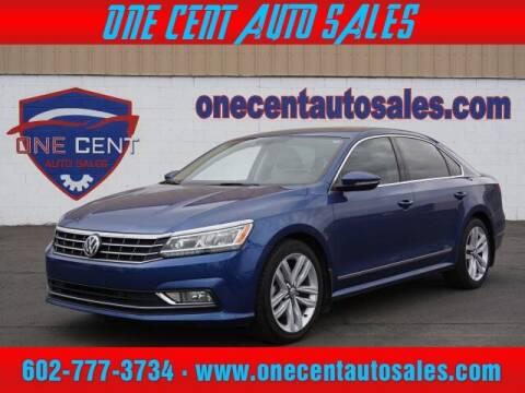 2017 Volkswagen Passat for sale at One Cent Auto Sales in Glendale AZ