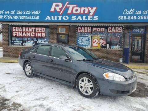2011 Chevrolet Impala for sale at R Tony Auto Sales in Clinton Township MI