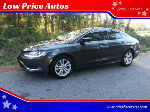 2016 Chrysler 200 for sale at Low Price Autos in Beaumont TX