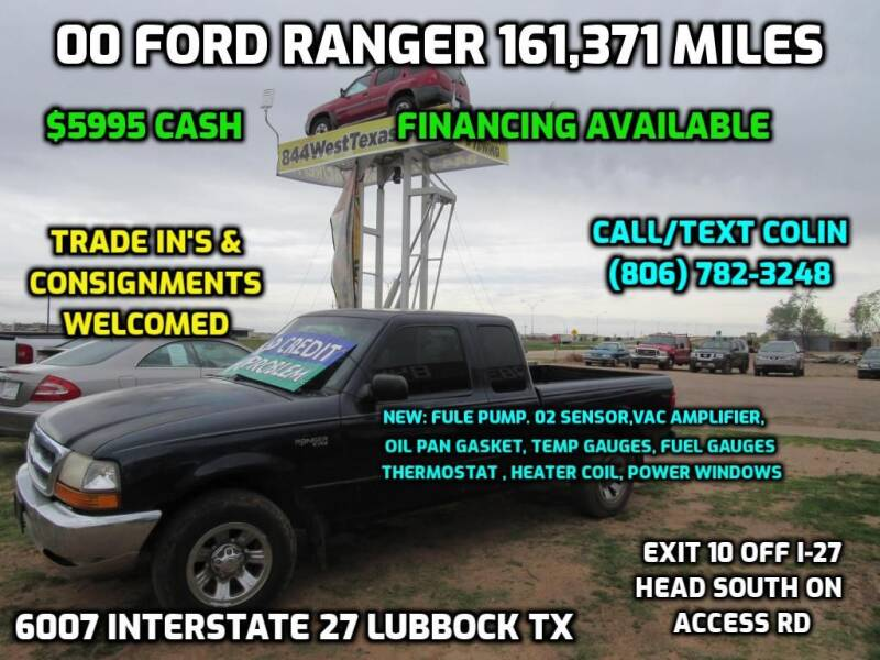 2000 Ford Ranger for sale at West Texas Consignment in Lubbock TX
