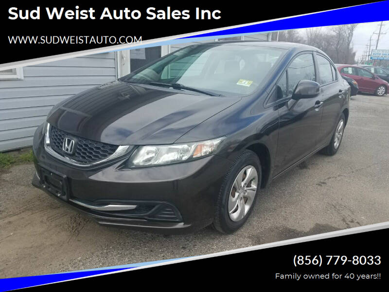 2013 Honda Civic for sale at Sud Weist Auto Sales Inc in Maple Shade NJ