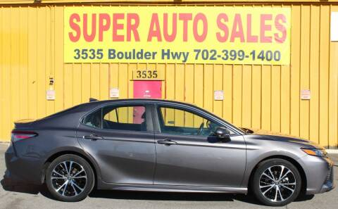 2019 Toyota Camry for sale at Super Auto Sales in Las Vegas NV