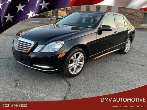 2011 Mercedes-Benz E-Class for sale at DMV Automotive in Falls Church VA
